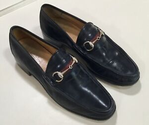 size 95 gucci mens loafers black leather dress casual
