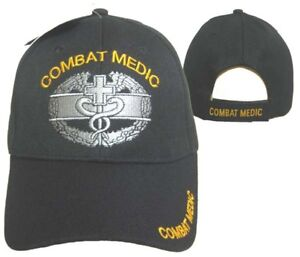 Combat-Medic-Ball-Cap-Hat-Black-Baseball-Embroidered-3D-Licensed-CAP633-TOPW