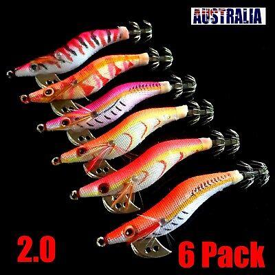 3 SQUID JIGS LURE 3.0 EGI GLOW TAIL Tackle Calamari Squid Jig Fishing Lures