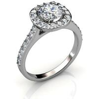 18k White Gold Plated Ring W/ Solitaire Design Crystals By Matashi (us Size 7) on sale
