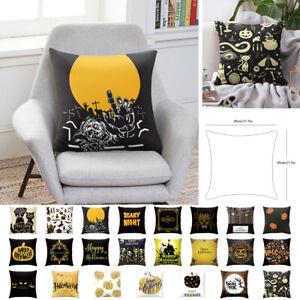 Halloween-Horreur-Imprime-18-034-Decoratif-Canape-Taie-d-039-oreiller-Housse-de-coussin