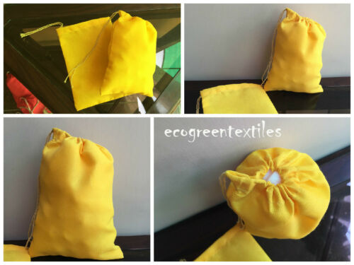 3x5 inches Premium Quality Drawstring Muslin bags Available in different Colors