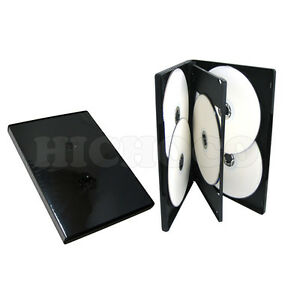 50-Standard-14mm-Multi-Hold-6-Disc-Six-CD-DVD-Black-Case-Movie-Box-Wholesale