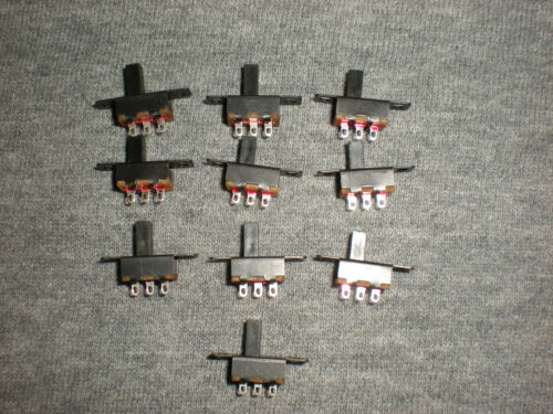 MODEL RAILROAD MINI SLIDE SWITCH LOT OF 10 NEW SWITCHES ON//OFF OR ON//ON DIY RC