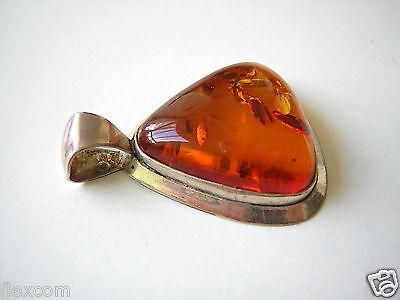Loose Diamonds & Gemstones Antiker Honig Bernstein Anhänger Dreieck 925 Silber Frauenkopf Wk 10,0 G Amber