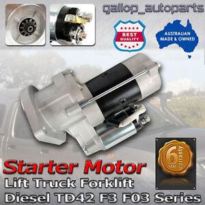 Starter-Motor-For-Nissan-F3-F03-Lift-Trucks-Forklift-Engine-TD42-Diesel-1989-ON