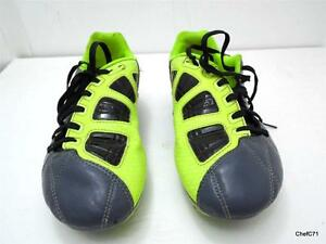 2dc240bde NIKE T90 US 4Y EUR36 GRAY   DAYGLO CLEATS 385409-470 GOOD USED ...