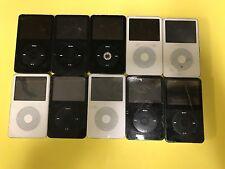 Apple iPod classic 5th Gen - White & Black - (30GB) - Lot of 10 - Broken Items
