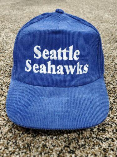 Vintage 80's Seattle Seahawks Snapback Hat Corduro