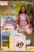 Happy Family Pregnant Midge & Baby Barbie Doll Pink Outfit  Dented