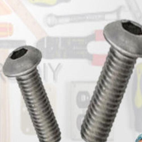 M6 A4 Stainless Steel Button Head Socket Screws MARINE GRADE Nut /& Washer Set