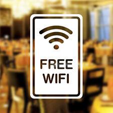 Free WIFI Window Sign Vinyl Sticker Graphics Cafe Shop Salon cup Bar Restaurant