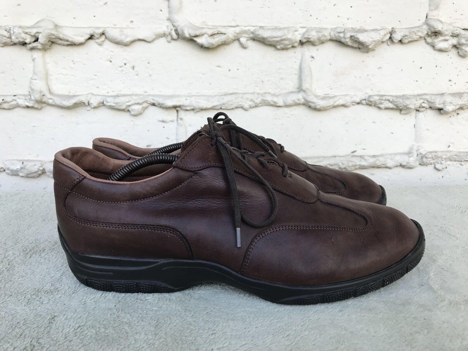 EUC ALLEN EDMONDS Day Tripper Men's shoes Sz US 11D Brown Leather Lace Up Oxford