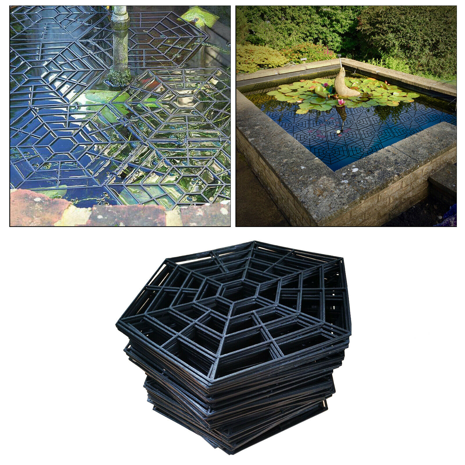 20/Set Plastic Fish Guard Grid Protective Guard Netting Pond Protector Cover