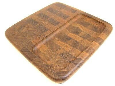 Dansk Tray Teak Cheese Cutting Board Mid Century Mod Danish