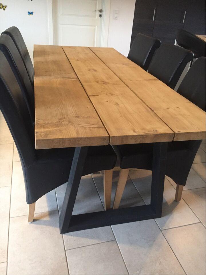 spisebord fyrretræ Spisebord, Fyrretræ, b: 90 l: 200 – dba.dk – Køb og Salg af Nyt og  spisebord fyrretræ