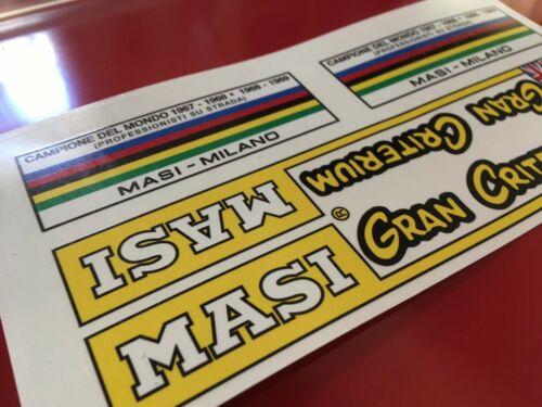 Masi Gran Criterium 1970 Milano Decalset decal adesivi bici  Set Campagnolo