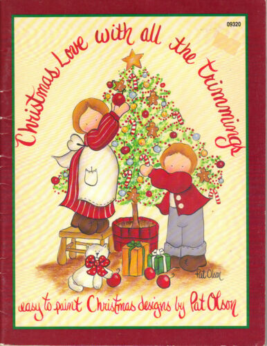 Christmas Love With All The Trimmings Tole Book by Pat Olson~OOP