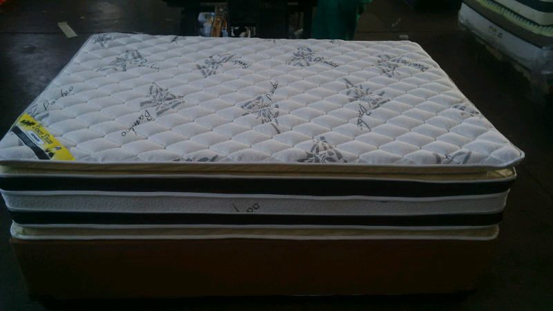 Bamboo luxury pillowtop double on special