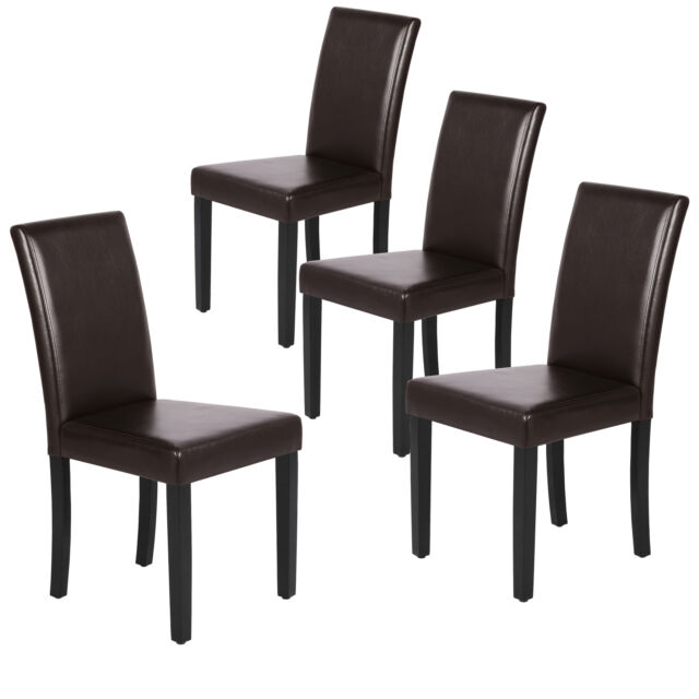 Leather Dining Room Chairs Padded Kitchen Chairs With Bigger Seat And Solid Wood For Sale Online Ebay