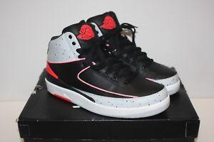 5c22d756725f Nike Air Jordan II 2 Retro Black Infrared 23 Pure Platinum 385475 ...