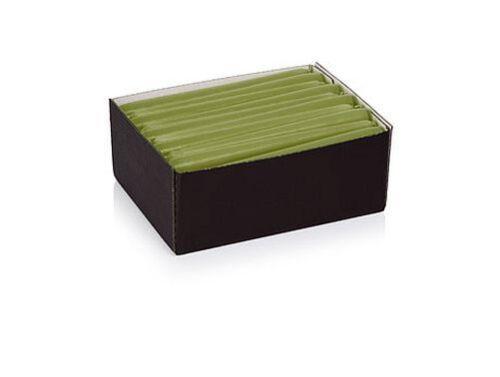 50x Leuchterkerzen 250x25 Farbe Grün Tafelkerzen Spitzkerzen RAL Gastro-Qualität