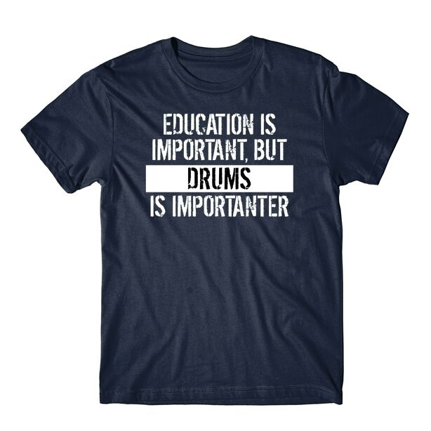 Education is Important Funny grabmybits Gin is Importanter Ladies T Shirt