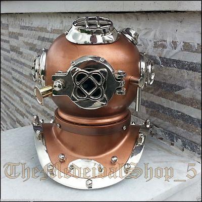 Antique Divers Helmet Mini Diving Tabletop Decor Vintage Replica Sea Scuba Decor