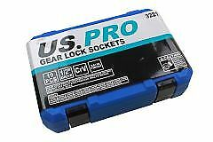 "32mm 3221 US PRO 19pc 1//2/"" Dr Gear Lock Multi lock Sockets Socket Set 8mm"