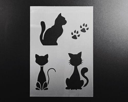 Conjunto de arte de Pared aerógrafo de plantilla de gatos Artesanía Decoración Hogar Hazlo tú mismo Reutilizable animal Kitty