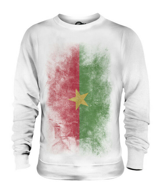 BURKINA BURKINA BURKINA FASO VERBLICHEN FLAGGE UNISEX SWEATER PULLOVER PULLI HERREN DAMEN | Smart  | Bekannt für seine schöne Qualität  | Perfekte Verarbeitung  9504fa