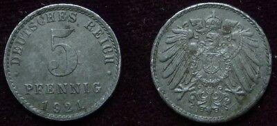 5 Pfennig - 1921 A - Deutsches Reich (655)*** GüNstige VerkäUfe