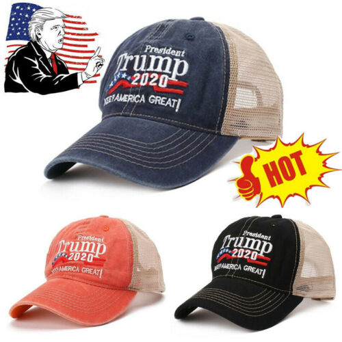 Donald Trump 2020 Cap USA Flag Baseball Cap MAGA Hat Make America Great USA
