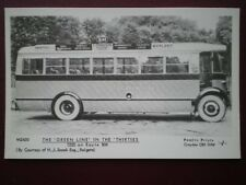 POSTCARD RP GREEN LINE IN THE 1930'S T220 ON ROUTE BM