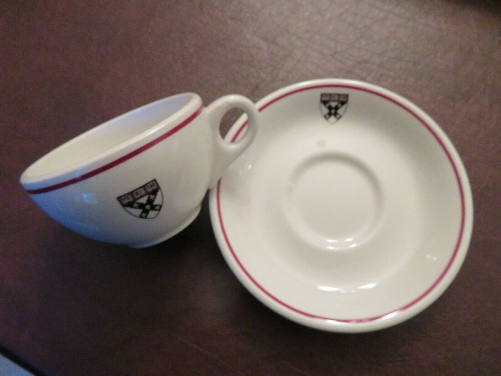 1970s HARVARD BUSINESS SCHOOL Lunchroom/Cafeteria CUP & SAUCER 1