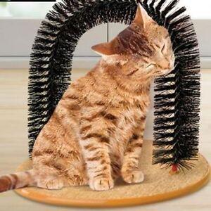 Art Nouveau Pour Chat Chaton Arch Soies Masseur Self-groomer Scratcher Catnip Jouet-afficher Le Titre D'origine Service Durable
