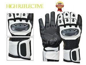 New-Men-Leather-Motorcycle-Motorbike-Gloves-Full-Finger-Padded-Long-Biker-Gloves