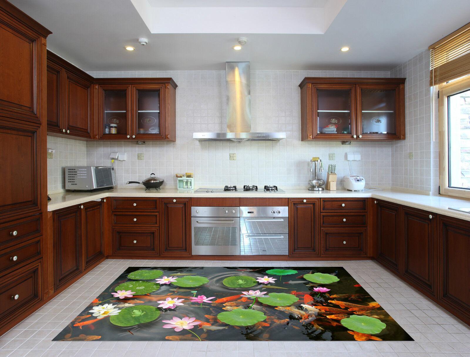 3D Lake Fishes 61 Kitchen Mat Floor Murals Wall Print Wall Deco AJ WALLPAPER CA