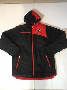 New-Reebok-Youth-Large-14-16-Calgary-Flames-Winter-NHL-Jacket