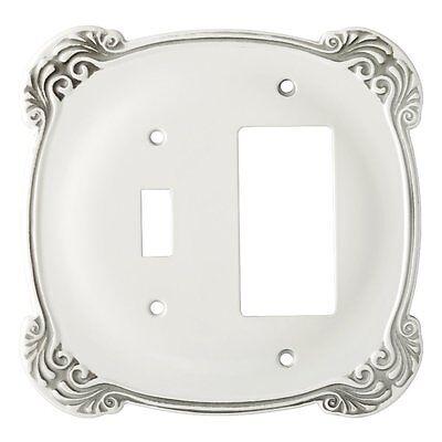 White Nylon Scallop Single GFCI Switch Cover Wall Plate