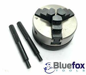 New 2 x 3 Jaw Self Centering Lathe Chuck M12x1mm Thread For Unimat Sl /& Db Lathes