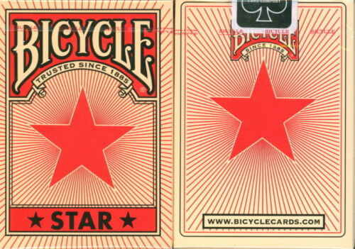 poker size playing cards mazzo carte da gioco magia BICYCLE RED STAR