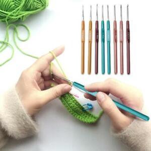 Fine Yarn Wool 8 Piece Set Crochet Hooks 065 25mm Slim Easy Hold