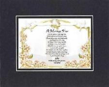 Personalized Touching and Heartfelt Poem for Loving Partners - A Marriage Vow .