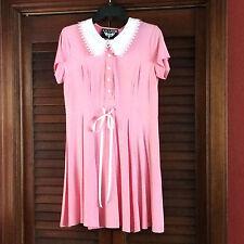 KILLSTAR DOLL DRESS COLLAR SCHOOL GIRL LOLITA BUBBLEGUM PINK SZ LARGE/L