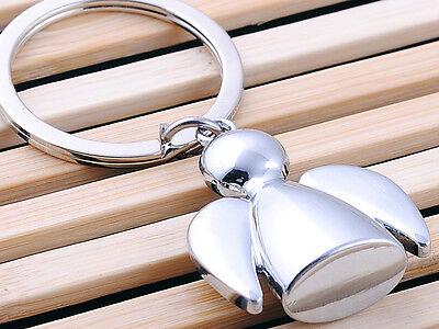 HJ Angel Keyring Creative Keychain Polished Chrome Classic Key Bag Chain Gift