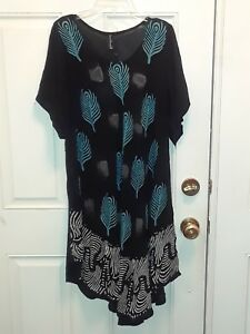 Dress-Women-039-s-Hippie-Boho-O-S-Lg-XL-New-w-Tags