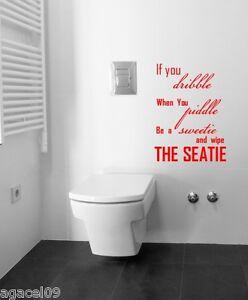FACE SMILE TOILET BATHROOM WALL QUOTE VINYL DECOR STICKER DECAL STENCIL GRAPHIC