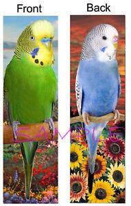 Fairy Garden Terrarium Miniature 2 Inches NEW 4626 2 Mini Budgie Parakeets