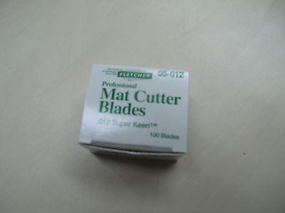Fletcher 05-012 Super Keen Mat Cutter Blades x 100 for F2200 mount cutter